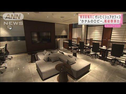 """""""ホテルのロビー"""" 東京駅に高級シェアオフィス(2021年7月12日) (Việt Sub)"""
