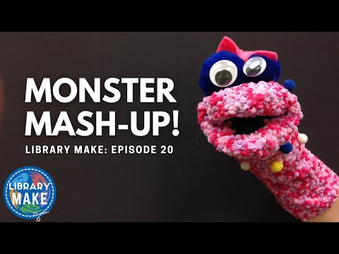 LIBRARY MAKE:  Monster Mash-Up!  (Early Literacy DIY)