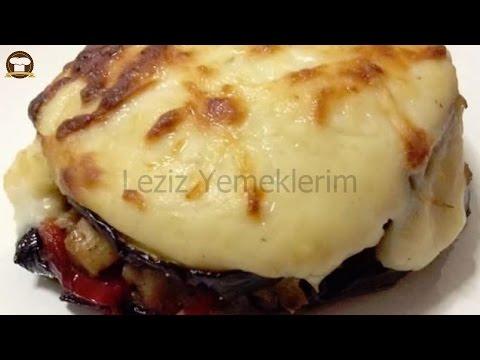Beşamel Soslu Patlıcanlı Tavuk Kebabı