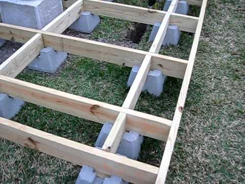 How i built my backyard observatory episode 18 deck Floating deck cinder blocks