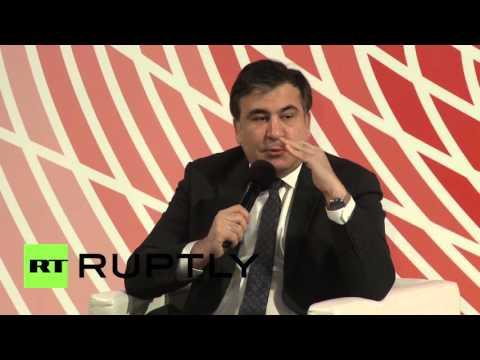 Poland: Saakashvili attends event honouring former President Kaczynski