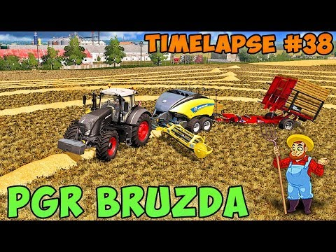 Farming simulator 17 | PGR Bruzda with Seasons | Timelapse #38 | Make straw bales thumbnail