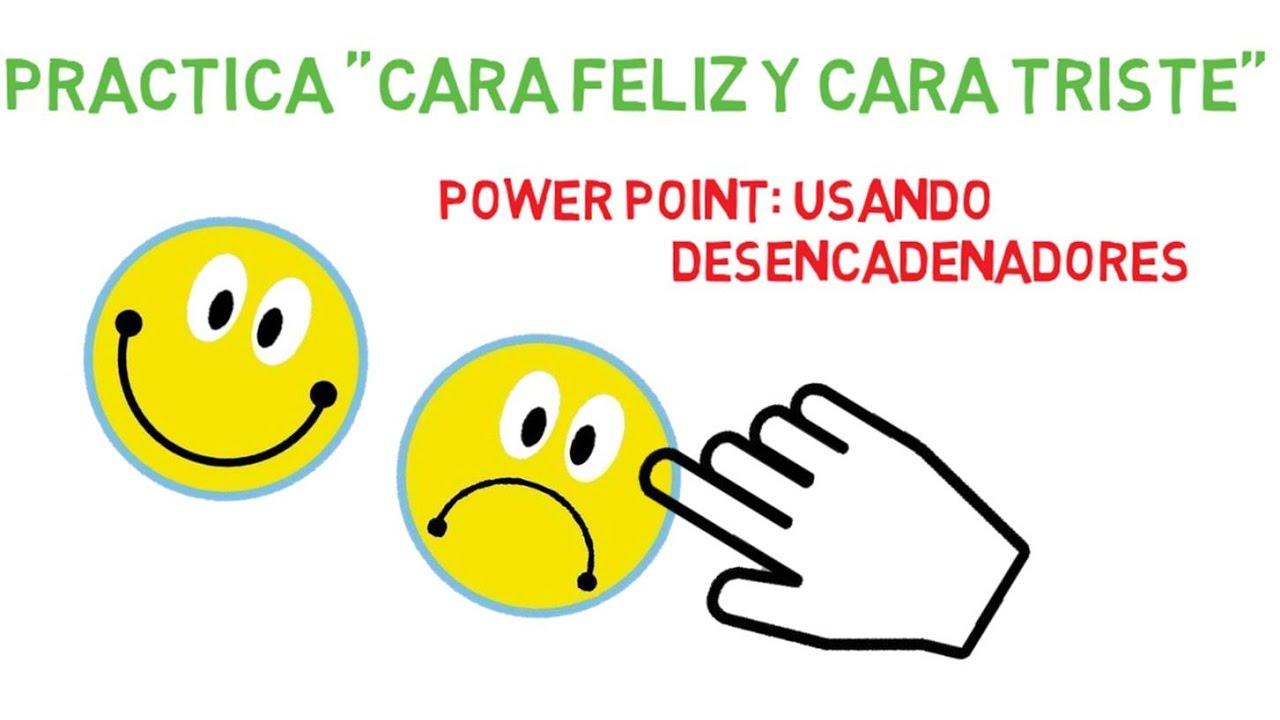 Cara Feliz Y Triste Power Point Desencadenadores Cara