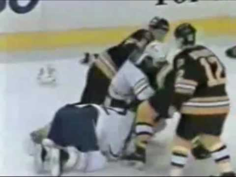 best loved 3e6a1 606e9 Ringside with the Boston Bruins: Classic Hockey Fights