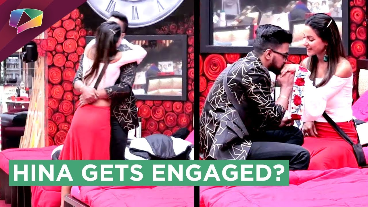 Hina Khan Gets Engaged To Rocky In Bigg Boss 11 Marriage Proposal