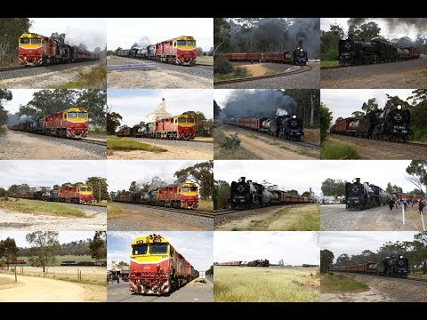 Trackside: Steamrail Victoria's Farewell Broadway Broad Gauge tour to Wycheproof- 7/10/17