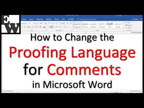 How to Change the Proofing Language for Microsoft Word