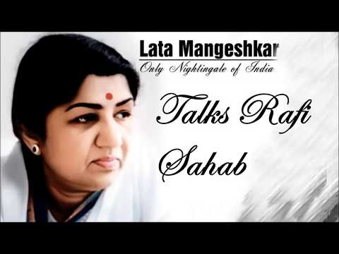 Nightingale of India Lata Jee Speaks Rafi Sahab