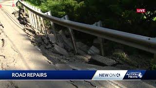 Flood damage shuts down Nadine Road in Penn Hills