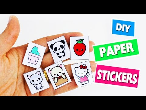 🎒🏫 Back to School Crafts: Homemade Paper Stickers - simplekidscrafts