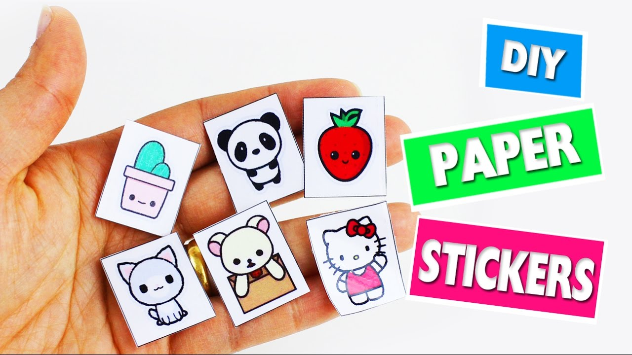 back to school crafts homemade paper stickers youtube solutioingenieria Image collections