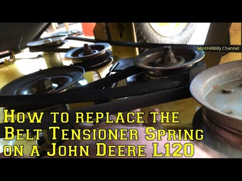 How To Replace The Belt Tensioner Spring On A John Deere L120 Automatic Riding Lawn Mower