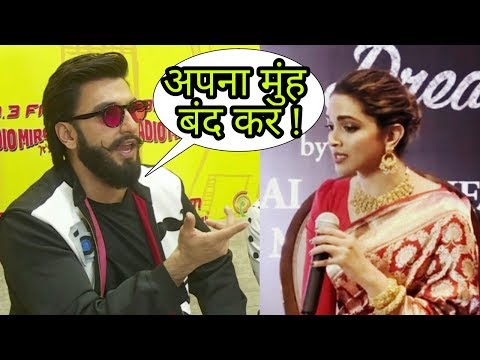 Oh! Ranveer singh lashed out at Deepika Padukone for statements she recently made about him|