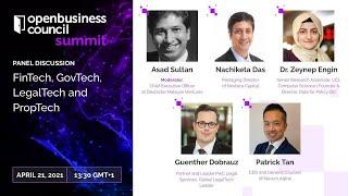 FinTech, GovTech, LegalTech and PropTech