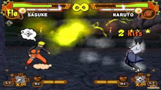 Naruto Shippuden: Ultimate Ninja 5 HD - Naruto vs Sasuke (60fps 1080p)