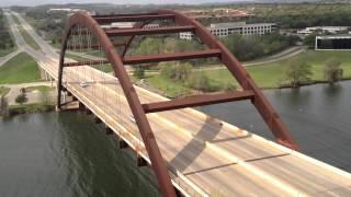 Tom Jaeschke views the Pennybacker Bridge in Austin, Texas