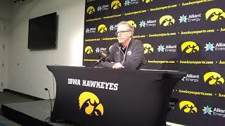 Iowa coach Fran McCaffery on the upcoming game against North Florida