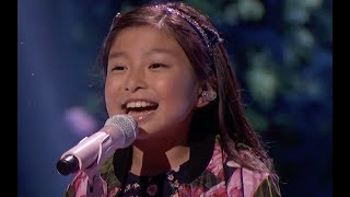 Little Angel Blows Everyone Away With 'When You Believe' | Quarter Finals | America's Got Talent 201