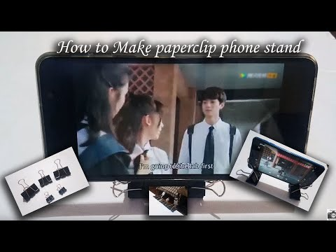How to || Make a Phone Stand || Using a Paper Clip || Paper Clip Hacks