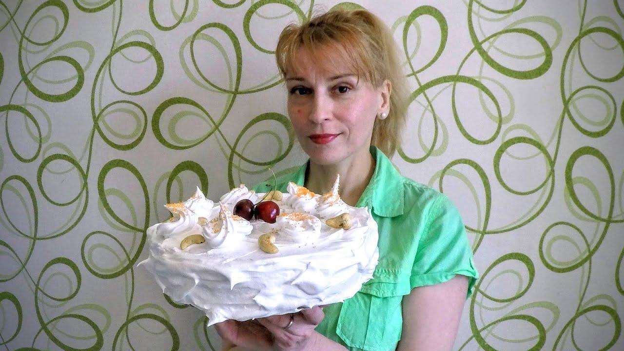 Белковый заварной крем для торта - простой рецепт для ...