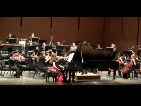Manon Hutton DeWys plays Joan Tower Piano Concerto (Movement 2 of 3)