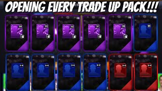 EVERY TRADE UP PACK OPENING IN NBA LIVE MOBILE 20!!!