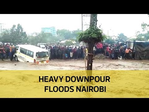 Heavy downpour floods Nairobi