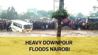 Heavy downpour floods Nairobi