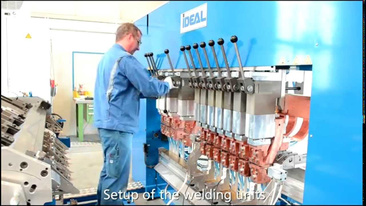 IDEAL GA series mesh welder for cable trays, with quick-change ...