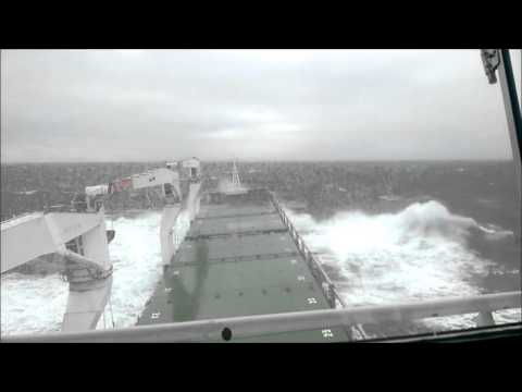 Ship's in storm