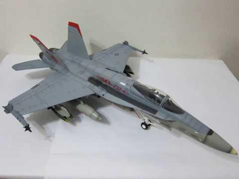 1/18 Aviation BBI Elite Force Aircraft U S Marines F/A-18 VMFA-232 Red Devils F-18