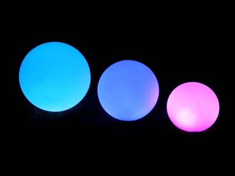 Solar Ed Led Garden Ball Lights Colour Changing