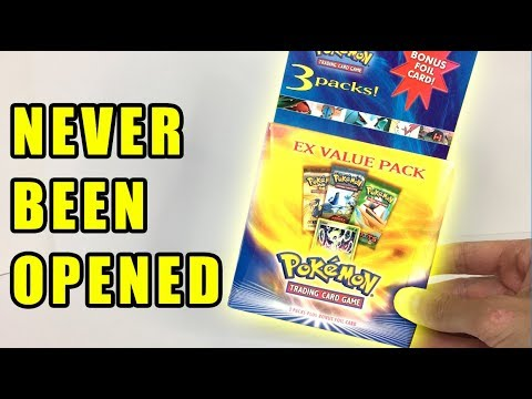 VINTAGE Pokemon Cards Box NEVER BEEN OPENED ON YOUTUBE!