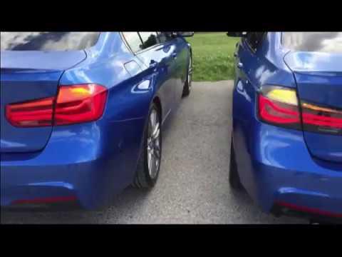 Bmw F30 Lci Standard Rear Lights Vs M Performance Black