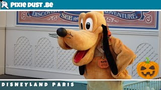 🎃 Meet and greet with Pluto in Halloween style at Disneyland Paris for Halloween 2018
