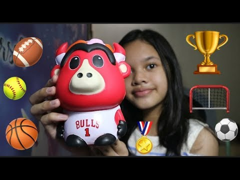 CHICAGO BULLS MASCOT 🏀| SPORT SQUISHY TAG By Jennica ⚽️
