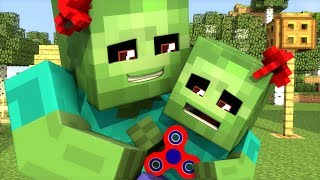zombie vs villager wolf and witch life minecraft animation no sound
