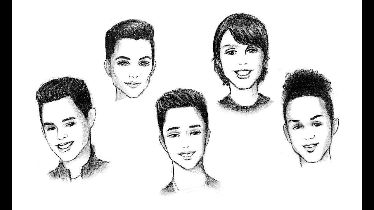 La Banda Drawing The Boys From Cnco Cartoon Style Youtube