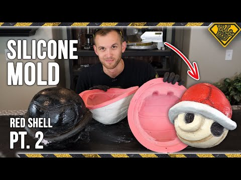 Making Mario Kart Red Shell Molds