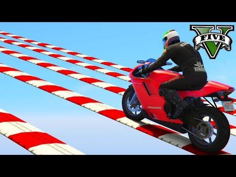 """GTA V Online: SKILL TEST MOTO no """"SLOW DOWN""""!!! INSANO"""