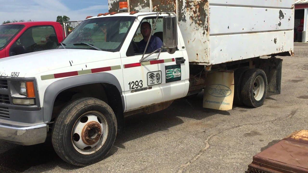 1 Ton Chipper Box Body : Chevrolet ton dump with chipper box for sale