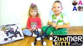 Зуммер Китти Интерактивная Игрушка Котёнок Робот Zoomer Kitty