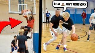 Trash Talker Fouls HARD & Gets EXPOSED! 5v5 Basketball!