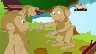 Jataka Tales in Kannada - The Monkey Chief and the Demon