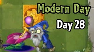 Plants vs Zombies 2 - Modern Day - Day 28: Produce 3000 sun (Demo Gameplay)