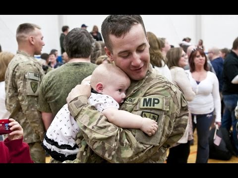 Soldier Meets Baby for First Time Compilation (2014)