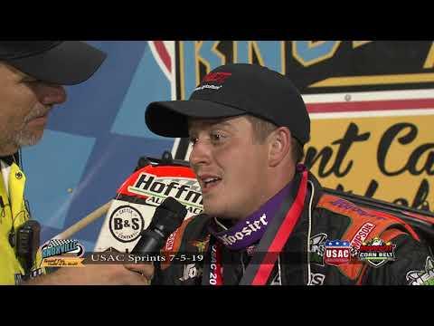 Knoxville Raceway Victory Lane - BRANDT Corn Belt Nationals Prelim - July 5, 2019