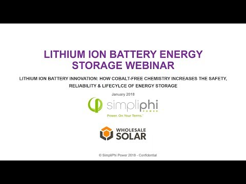 "Lithium-Ion Batteries: A ""Why and How"" Training for solar installers, technicians and sales."