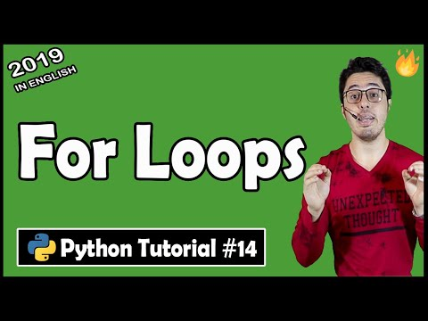 For Loops in python | Python Tutorial #14 thumbnail