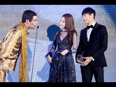 Chi Pu & Choi Jin-hyuk (The Heirs) trao giải cho Piko Taro (PPAP) | WebTV Asia Awards 2016